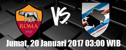 prediksi-as-roma-vs-sampdoria-20-januari-2017